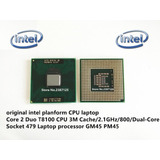 Processador Intel Core 2 Duo T8100 2,1ghz Upgrade Notebook
