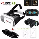 Óculos Realidade Aumentada Google Cardboard Vr Box 2.0 Vr 3d