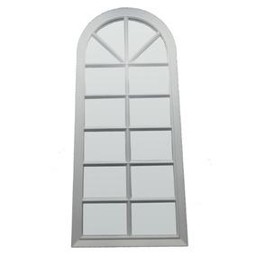 Espelho Decorativo Sala Parede Escritório Branco 33x76 Cm