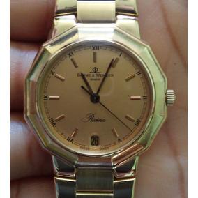 Relógio Baume & Mercier Riviera Todo De Ouro 18k Unisex