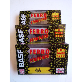 Fita K7 Basf Ferro Standard 46 Minutos Raridade Lote Com 3un