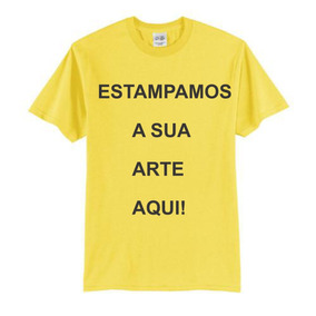 Camisetas Cor Amarelo Bebê E Personalizada P Ao Gg