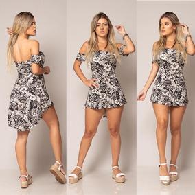 Conjunto Mullet Shorts + Vestidinho Com Bojo Feminino Viscol