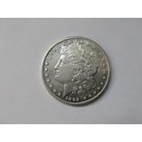 Moneda De Plata $1 Morgan Fecha Rara 1893 Cc Autentica