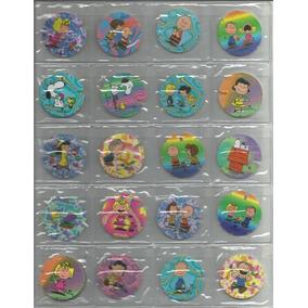 Lote Com 10 Tazos Da Coleção Brilliant Frogs Snoopy