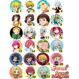 7 Pecados Capitales Pins Botones Nanatsu No Taizai Anime