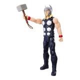 Figura Thor Con Martillo Titan Avengers Marvel Hasbro