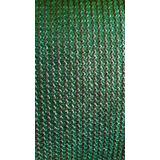 Malla Sombra Raschel Verde Rollo 90% Rollo 2.10x100 5 Años