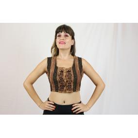 Blusa Indiana Cropped Bordada Telinha Roupa Feminina