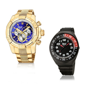 Relógio Everlast Masculino Dourado Analógico E647