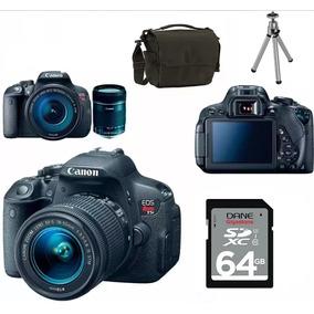 Câmera Profissional Canon T5i Bolsa+tripé+64gb+ Kit Youtuber