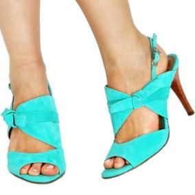 6e7e965b5d Sandalias Salto Alto Fino Promocao - Sapatos Azul turquesa no ...