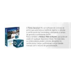 Software Ponto Secullum Ponto Iv Mensal P/contrato C/suporte