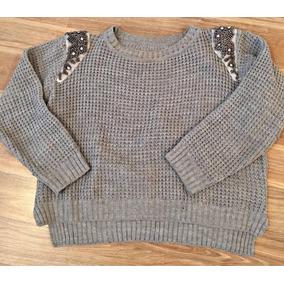 Sweater Con Apliques En Los Hombros - Ropa y Accesorios de Mujer en ... 70d9fe92d3da