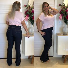 665a628a5336d2 Calça Jeans Flare Tamanho 48 - Calças Feminino no Mercado Livre Brasil