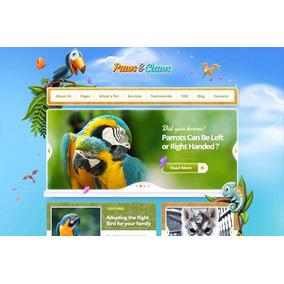 Site Tema Para Pet Shop - Paws & Claws - Template Wordpress
