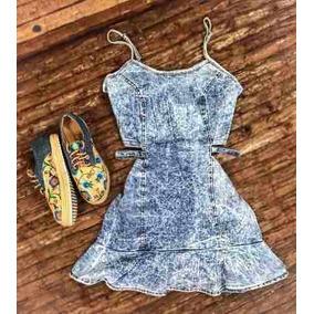 Vestido Jeans Curto Trancinha