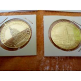 c1cd9cdcb61 Moeda Medalha Jogo Com 8 Paris E Venezia E Catedral