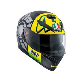 a5d91d158e3e7 Casco Agv K3 Sv Valentino Rossi Winter Test X L Pista Moto