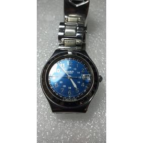 3b2af15b5f4 Relogio Swatch Colecao 1993 - Aço - Azul Celeste - Novo