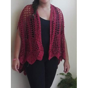 Chaleco Tejido De Hilo En Crochet Para Dama - Ropa 755b71c20349