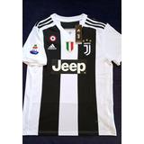 Camisa Juventus 18/19 Nº 7 Ronaldo Patch Campeão Italiano