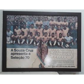 Raríssimo Poster Da Seleção Campeã Da Copa 1970 - Souza Cruz
