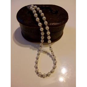 Collar Finísimo De Perlas Y Acero Quirúrgico