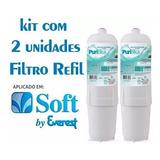 Kit 2 Filtros Refil Purificador De Agua Soft Everest
