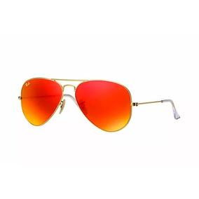 b9ef39169aa2a Óculos Ray Ban Aviador Vermelho Laranja Rb3025 Rb3026 De Sol ...