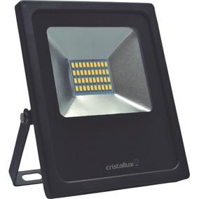 Kit 10 Refletor Led Slim 10w Luz Verde Biv. Ip65 Cristallux