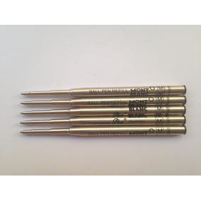 5 Cargas Para Caneta Montblanc Esfero Preta Ball Pen Refill