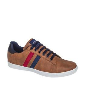Tenis Urban Shoes Color Camel/azul/blanco Sintetico Zq722 A
