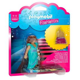Mini Figuras Playmobil - 7 Cm - Fashion Girls - Moda Night -