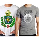 Camisa Camiseta Do Brasil Império Brasão Kit Com 2 Camisetas 0ca0dfdf3933b