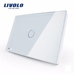 Interruptor Led Livolo Touch 1 Via Simples Vidro Temperado