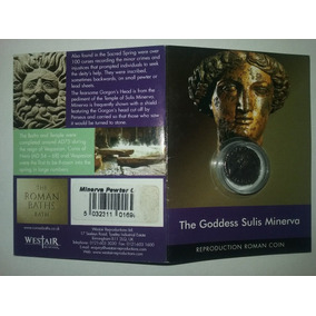 Folder Com Moeda Romana Réplica - The Goddess Sulis Minerva
