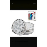2 Luces Led Sumergibles Con 2 Controles, Peceras Estanques