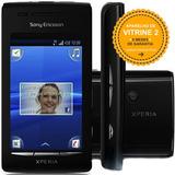 Celular Sony Xperia X8 E15a Single 3g 3.2mp Preto Vitrine 2