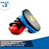 Pack 3x Escudo De Artes Marciales Taekwondo Kung Mma