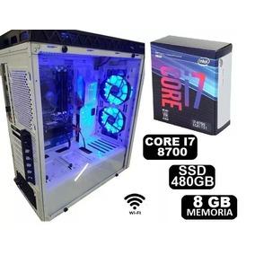 Pc Cpu Gamer Core I7 8700 8gb Ssd480gb Fonte 500wts Wifi