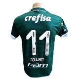Camisa Palmeiras Branca Verde Goleiro Dudu Goular 2019 Nova