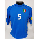 4f791aedd8 Camisa Itália Home 00-02 Cannavaro 5 Euro 2000 Importada