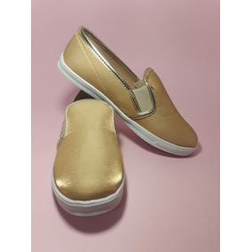 Tenis Casuales Sneakers Color Oro Para Dama