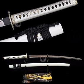 Katana Corte Espada Samurai Forjada Aço Damasco Original