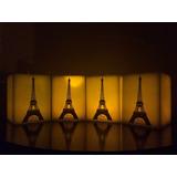 Promoción!! 2 Velas Led De Torre Eiffel 15cm