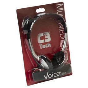 Fone De Ouvido C3 Tech Com Micro Voicer Light Preto Ct662040