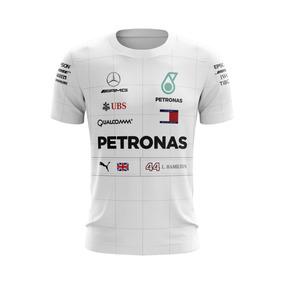 Camiseta Hamilton Mercedes Amg Petronas Fórmula 1 F1 Corrida