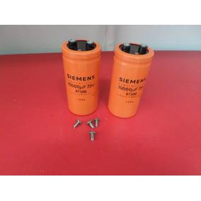 Capacitor Eletrolitico Amplificador Fonte 10000uf 75v 2 Pçs
