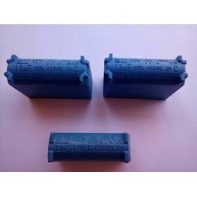 Capacitor 1.5 Uf X 450v Placa Eletronica Ar Split Kit Com 3